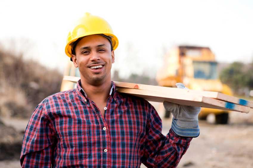 Trabajador de construcción en Canadá