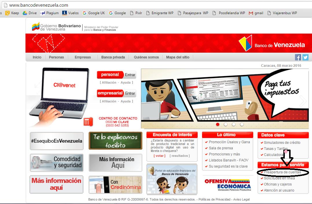 C mo abrir una cuenta en dolares desde venezuela emigrante Banco venezuela clavenet