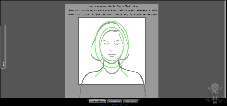 Herramienta de foto para lotería de visas