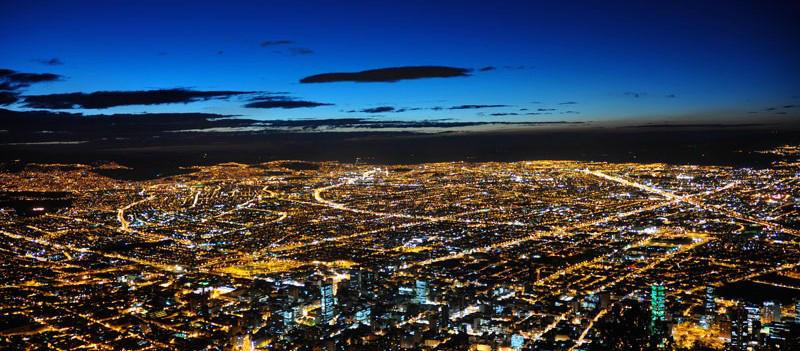 Bogotá en la noche