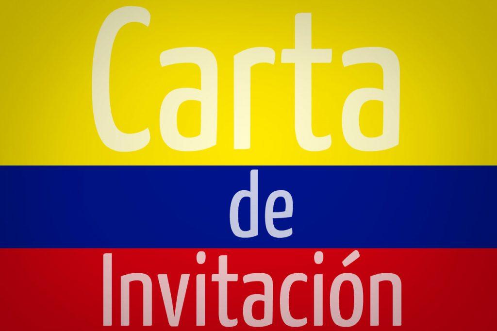 Carta de invitacion a Colombia