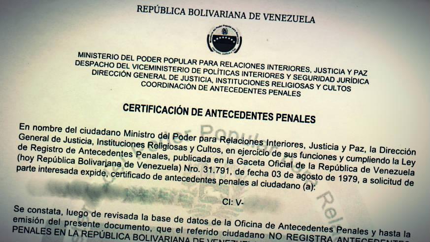 C mo solicitar certificado de antecedentes penales para for Ministerio de relaciones interiores