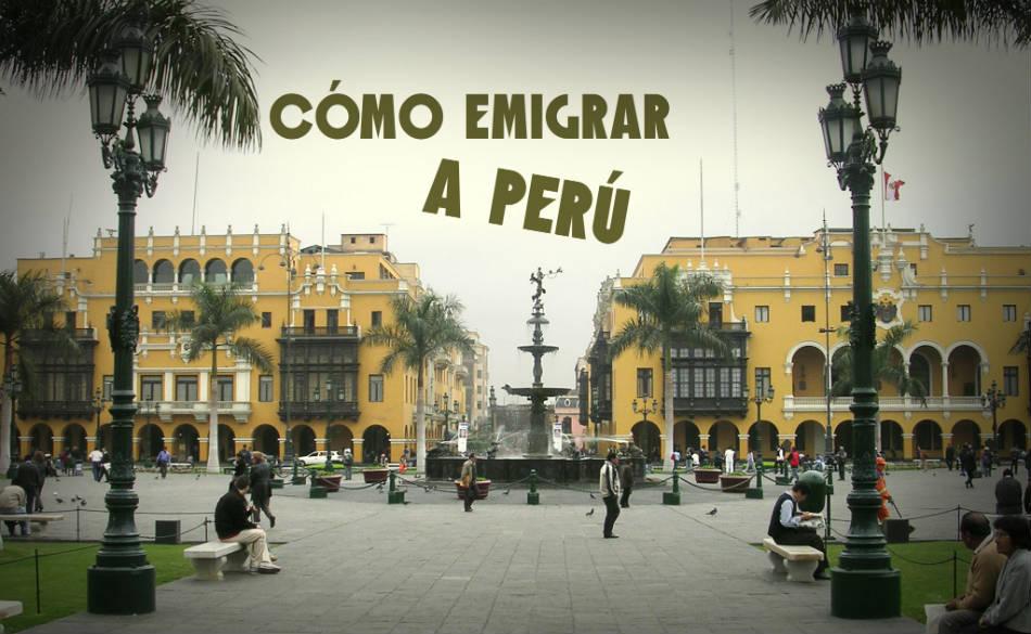 visa de residente en Perú
