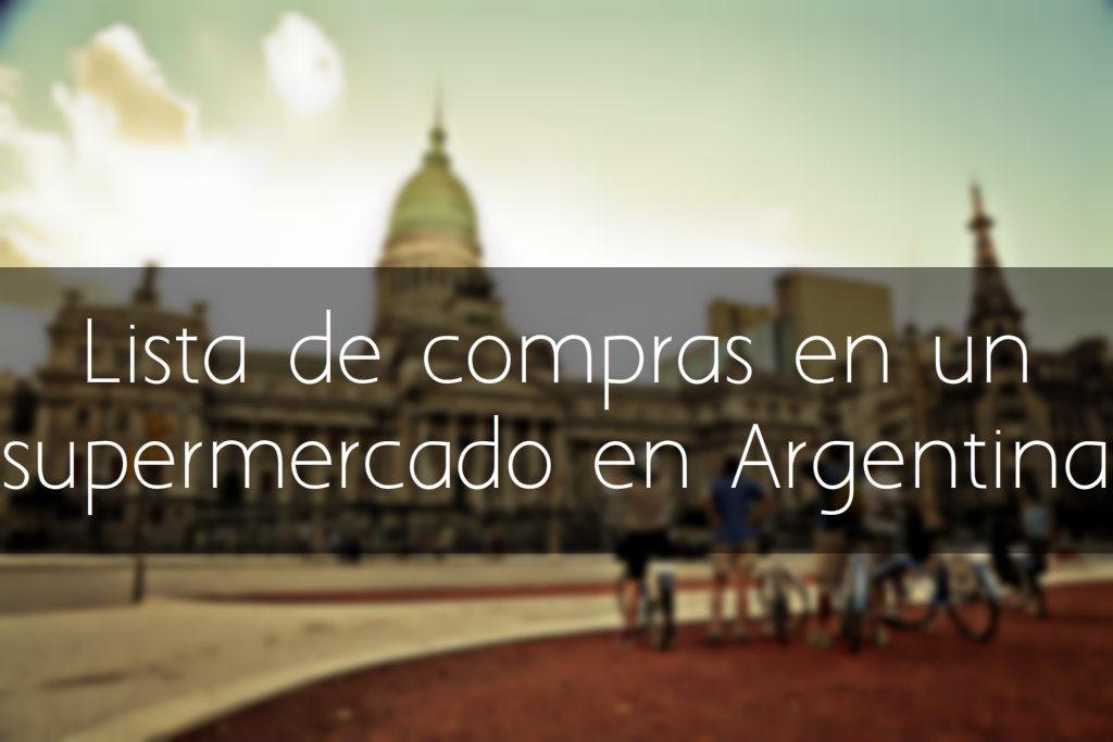 Lista de compras en Argentina
