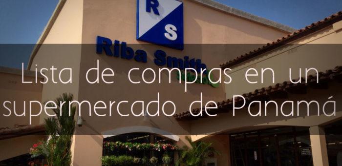 Lista de compras en un supermercado en Panamá