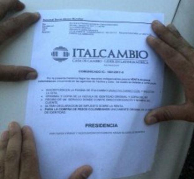 Requisitos italcambio