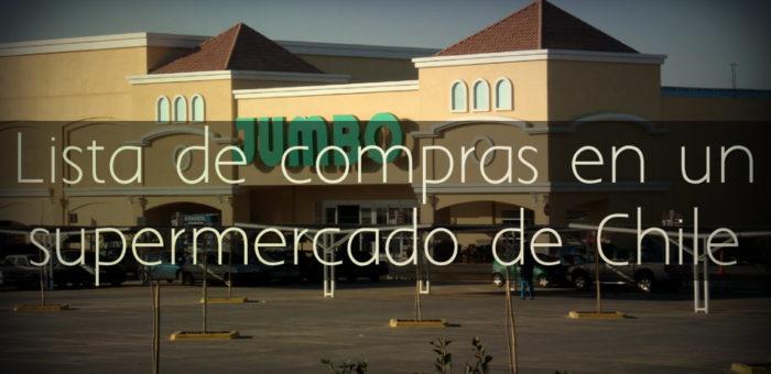 Lista de compras en un supermercado en Chile
