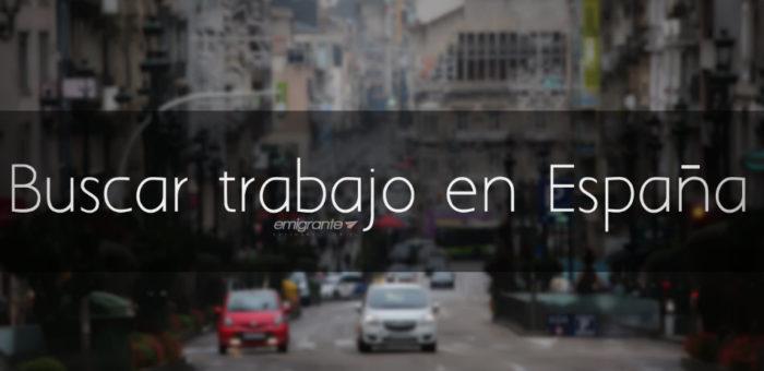 Buscar trabajo en España