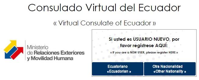Consulado Virtual del Ecuador