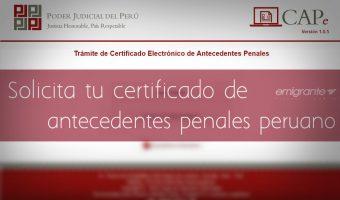 Certificado de antecedentes penales en Perú en línea