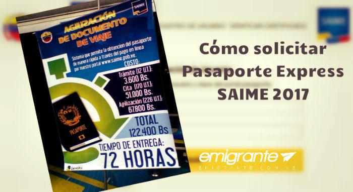 Solicitud de pasaporte express