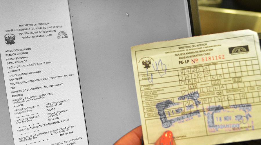 Qué es la Tarjeta Andina Migratoria (TAM)? - ✈ Emigrante