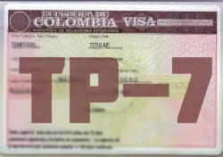 Visa colombiana TP-7