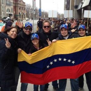 Familia de venezolanos en los Estados Unidos