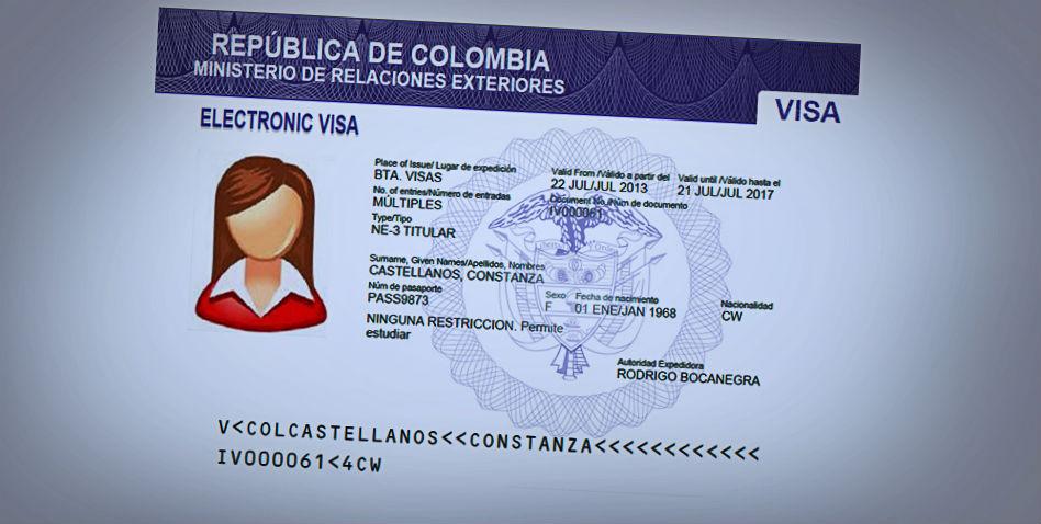 Trámite de visas en Colombia