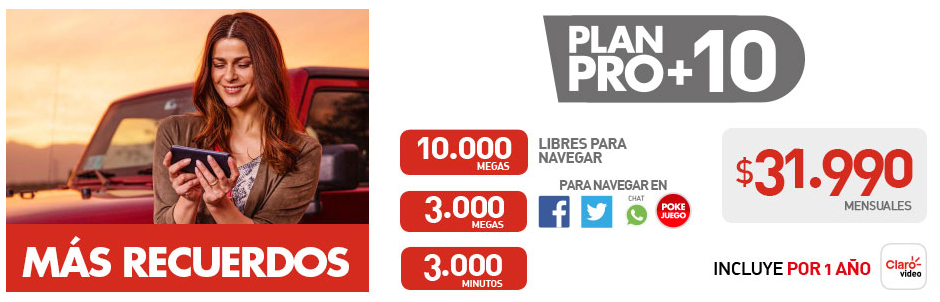 Plan de datos Claro en Chile