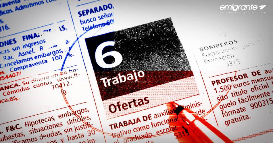 Bolsa de trabajo en Chile para emigrantes