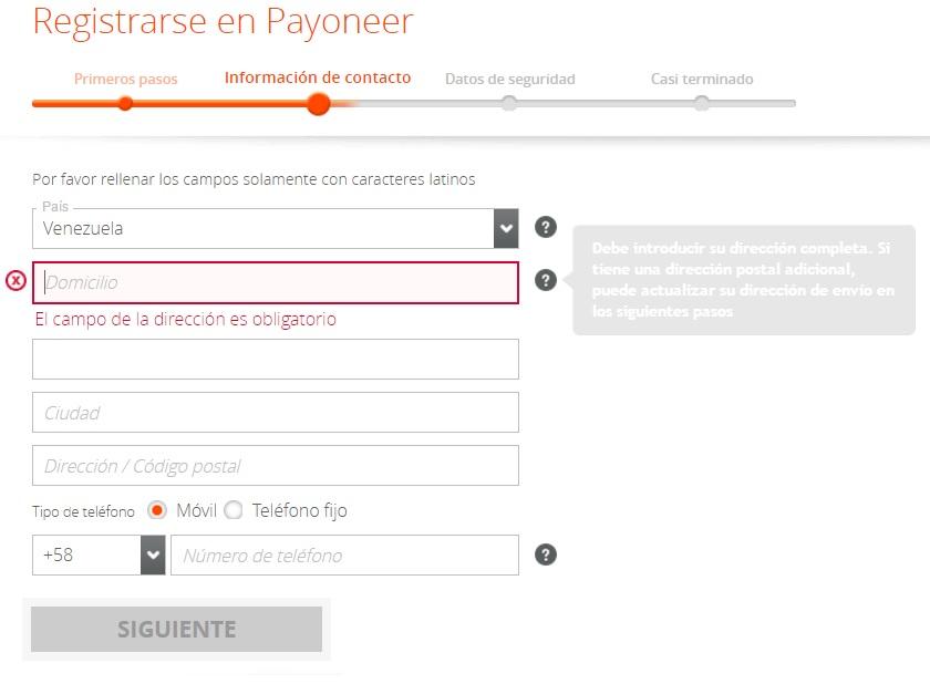 Crear cuenta en USA Payoneer para emigrar