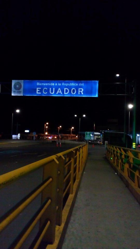 Llegando a Ecuador desde Venezuela