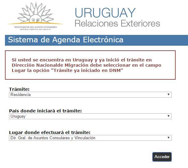 Sistema de agenda electrónica Uruguay