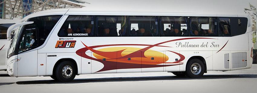 Pullman del Sur Chile a Argentina en bus
