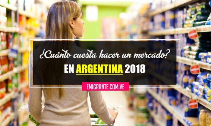 Lista de compras en un supermercado de Argentina 2018
