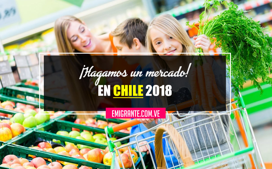 Lista de compras en un supermercado de Chile 2018