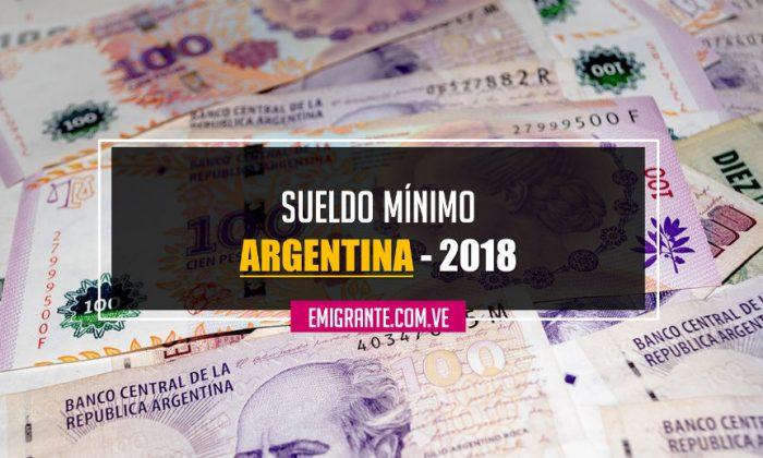 Sueldo mínimo en Argentina 2018