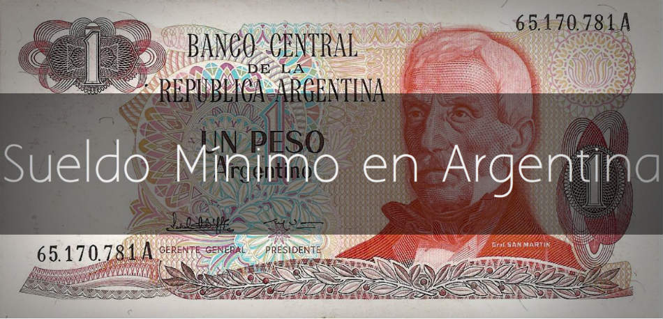 Sueldo mínino en Argentina 2017