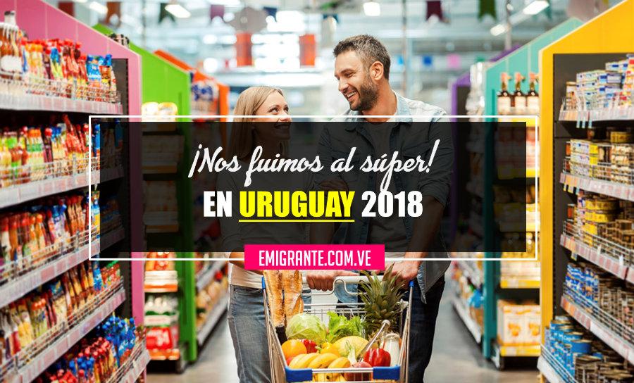 Lista de compras en un supermercado de Uruguay