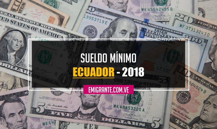 Sueldo mínimo en Ecuador 2018