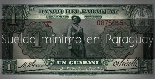 Sueldo mínimo en Paraguay