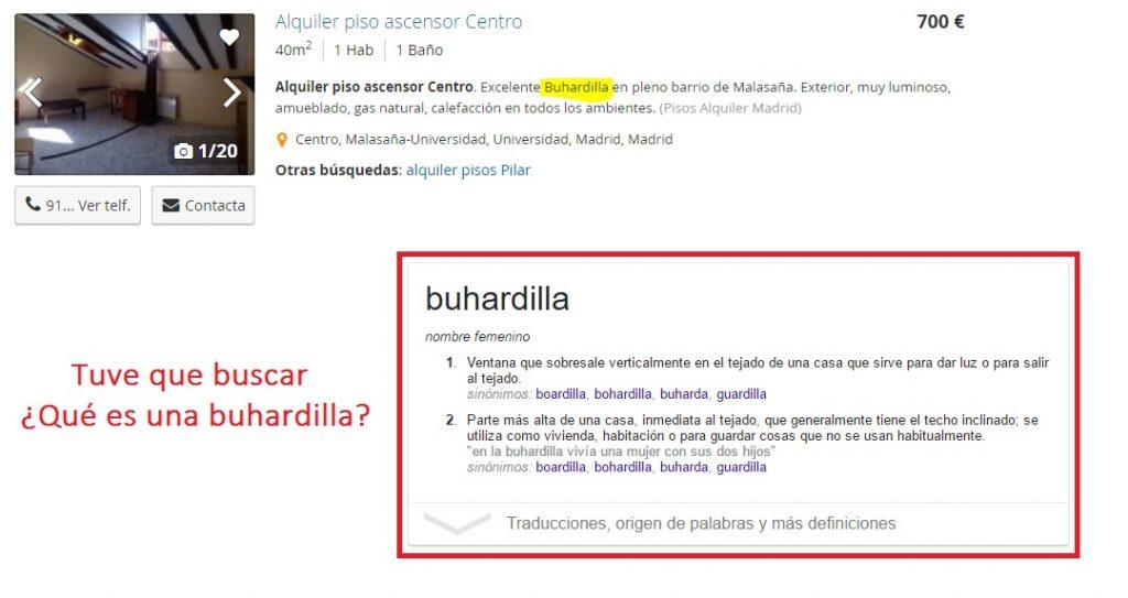 Alquiler de buhardilla en España