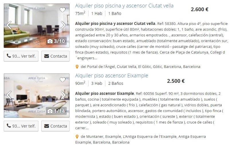 Alquiler de pisos cerca del centro en España