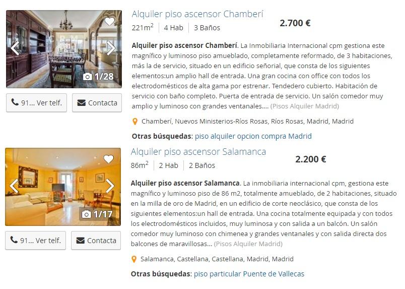 Alquiler de pisos en España para grupo de emigrantes