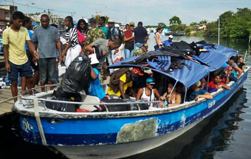 Embarcaciones en turbo para emigrar a Panamá