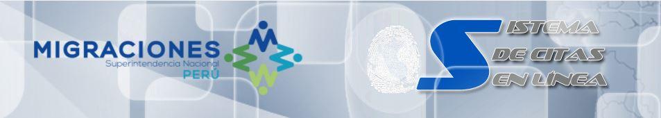 Sistema de citas en línea Migraciones Superintendencia nacional Perú