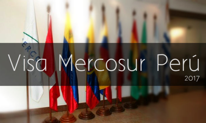 Visa Mercosur para venezolanos en Perú 2017