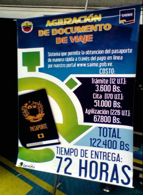 Pasaporte Express SAIME