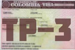 Visa colombiana TP-3