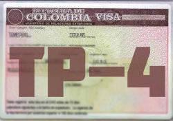 Visa colombiana TP-4