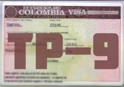 Visa colombiana TP-9