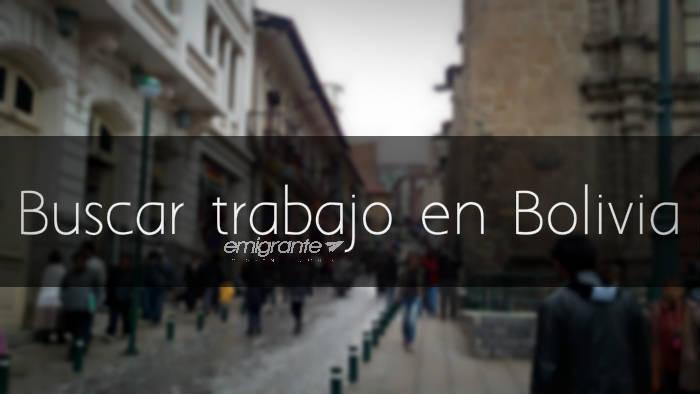 Buscar trabajo en Bolivia