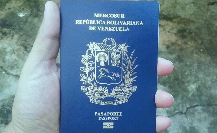 Pasaporte venezolano en Ecuador