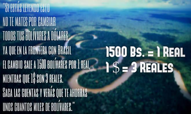 Precio del dólar en Brasil frontera