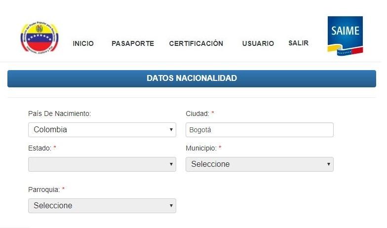 Solicitud de pasaporte venezolano en Colombia