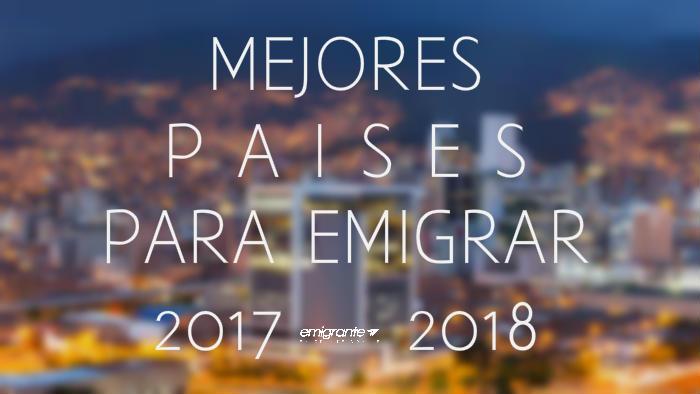 Mejores países para emigrar desde Venezuela