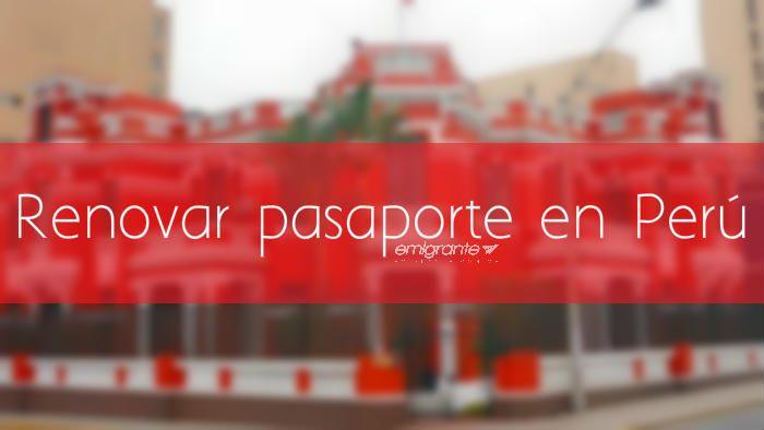 Renovar pasaporte en Perú