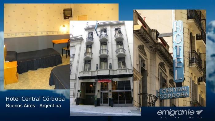Hotel Central Cordoba cerca del terminal de Buenos Aires