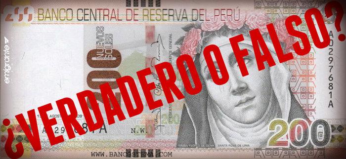 Soles peruanos falsos